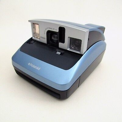 Polaroid One600 Instant Camera, Blue  - UNTESTED / SPARES REPAIRS, One 600