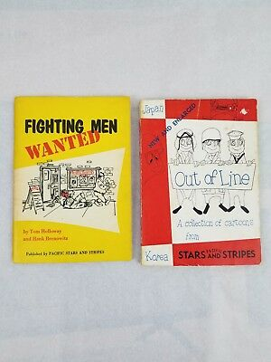 Lot of 2 Vintage 1954 & 1960 Pacific Stars And Stripes US Military Comic Books
