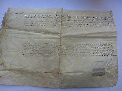 1777  Lettres  De Ratification  Parchemin