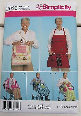 Simplicity 2623 Sewing Pattern Tote Apron Cape Wheelchair Accessories