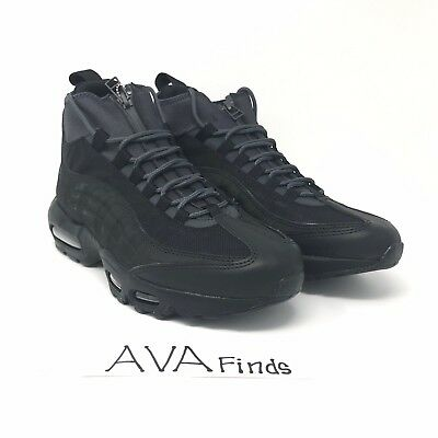 "6dfdb46c98 Men's Nike Air Max 95 Sneakerboot ""Triple Black"" Size Black Size 8 (806809"