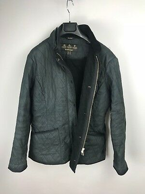 Barbour Women Soft Duracotton PolarQuilt Fleece Lined Jacket US14 UK18 44 Black
