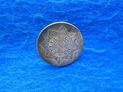 Rare 1814 George Iii Coldstream Guards Hallmarked Silver Officers Coatee Button,
