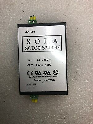 SOLA SCD30-S24-DN Industrial DC to DC Converter Out 24V 1.3A, In 20-72V DC