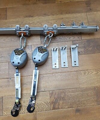Fall arrest blocks with stainless steel horizontal anchor device multirail .