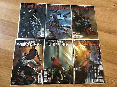 Amazing Spider-man Dead No More Clone Conspiracy Complete 1 2 3 4 5 & Omega - NM