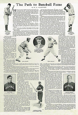 The Path To Baseball Fame 1915 PRINT Article