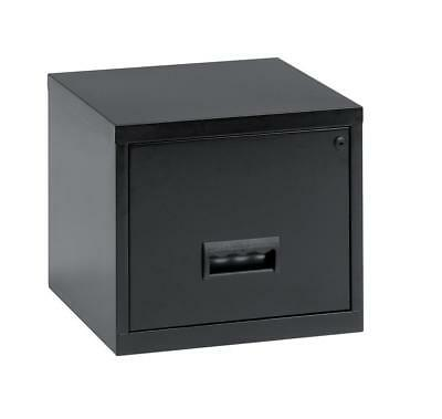Pierre Henry Filing Cabinet Steel Lockable 1 Drawer A4 Black Ref 099001 - 099001
