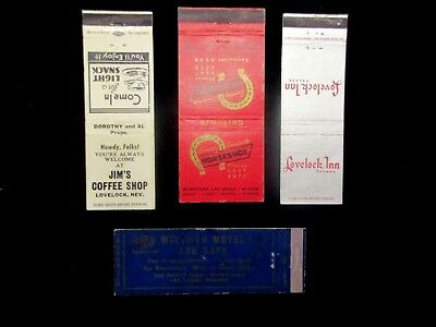 Vintage Matchbook Lovelock And Las Vegas Nevada With Benny Binion