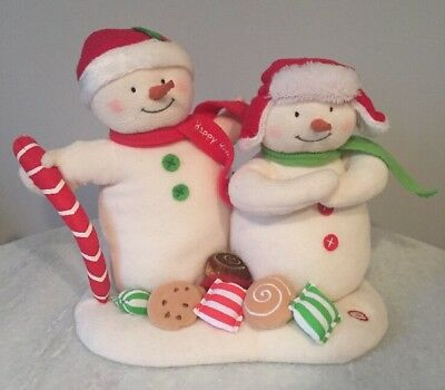 Hallmark Jingle Pals 2008 Seasons Treatings Animated Musical Snowman Candy Cane