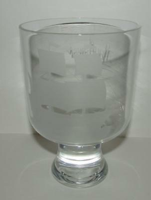 "Vintage ""mayflower 1500"" Crystal Glass Vase"
