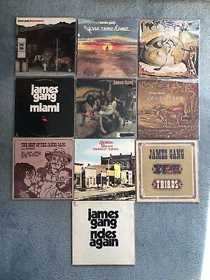 """Lot of 10 LP Records James Gang 12"""" Vinyl Classic Rock Collection"""