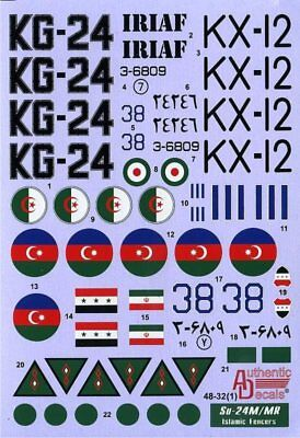 Authentic Decals #4832 Su-24M/MR Fencer D/E Islamic Fencers