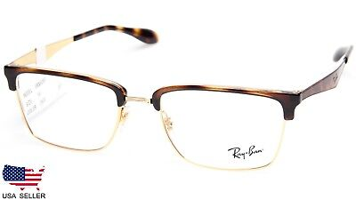 ea59ae26e0 NEW RAY BAN RB6397 2933 HAVANA GOLD EYEGLASSES GLASSES RB 6397 54-19 ...