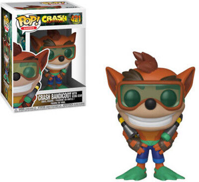 Crash Bandicoot - Crash W/ Scuba - Funko Pop! Games: (2018, Toy NUEVO)