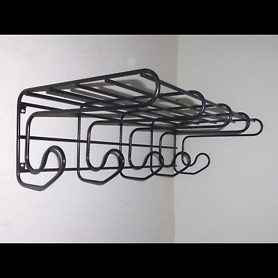 Garderobe Wandgarderobe Hutablage Regal Haken String Design Draht Wire Coat Rack