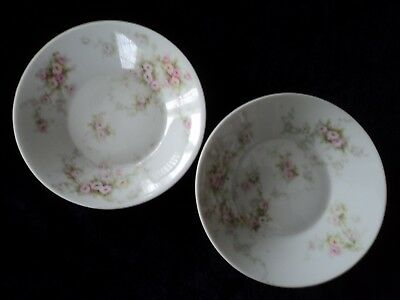 """Theodore Haviland Limoges France Two 4 5/8"""" Two Vtg Sauce Berry Fruit Bowls"""