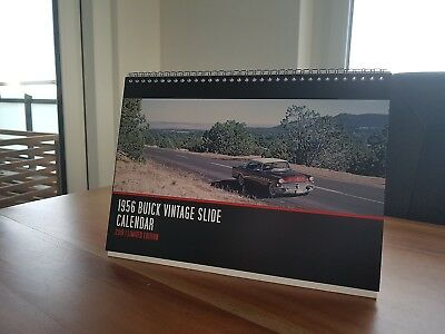 1956 Buick Desk Calendar for 2019 / Photos from 35mm Vintage Slides