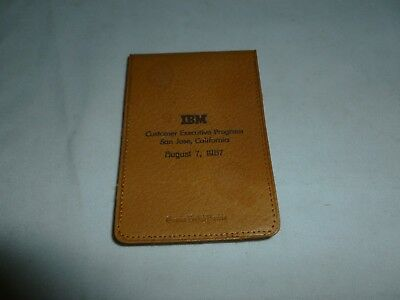 """Vintage 1967 IBM THINK Pad (3"""" X 4 1/2"""")Full of Paper and Looks Un-Used!Pigskin"""