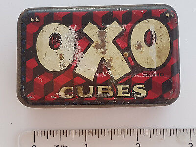Vintage OXO 6 cube tin with Fray Bentos ad inside lid