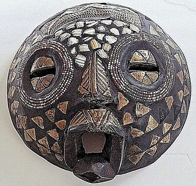 Handcrafted African mask from Ghana