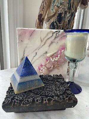 Original Marble Rose quartz Resin Marble Fine Art Abstract Painting Signed