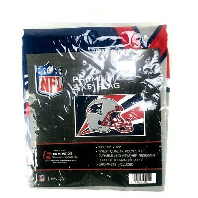 a4107dc0 NFL NEW ENGLAND Patriots Premium Fabric Deluxe Flag 3' x 5' with Grommets  NWT