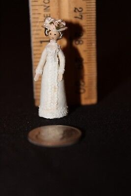 beautiful miniature Victorian style doll 1.5 inches tall