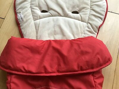 Universal Hauck Red Two Way Cosytoe Foot Muff/Buggy Liner: