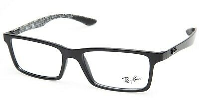 b952280bec NEW Ray Ban RB8901 5263 DEMI GLOSS BLACK EYEGLASSES FRAME 55-17-145 B33mm