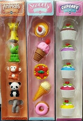 15 x Novelty Erasers for kids (Animals, Cup cakes and Sweet.Treat)