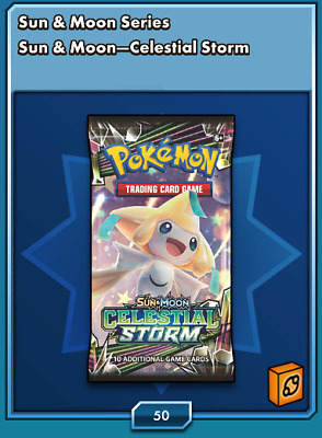 50x Pokemon TCG Sun & Moon Celestial Storm ONLINE CODE CARDS Delivered In Game