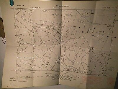 Elmley And Sheppey- Windmill Creek: 1861-1949 Os Land Tax Plan:illusive Kent Map