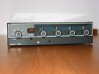 Bendix King Kt-76A Transponder With Mounting Tray !!! Very Nice Kt 76 A !!!