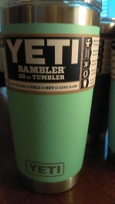***NEW*** Official Yeti Rambler 20 oz with Mag slider lid ~ Seafoam ~