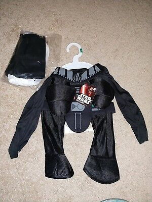 New Darth Vader Star Wars DOG Pet COSTUME Large Disney NWT Halloween