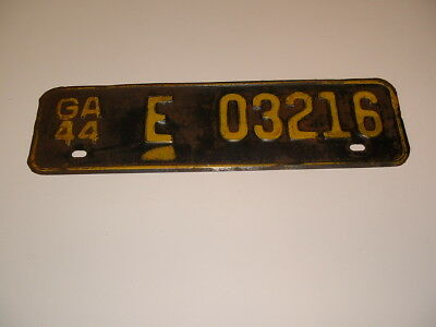 1944 Georgia License Plate WWII Chevy Ford Ratrod