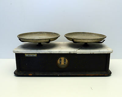 Vintage Scale Eimer & Amend Marble-Top Scale Scientific Apparatus
