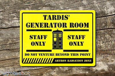 Doctor Dr who Tardis Staff Only PVC sign siganage for man cave sign Signage