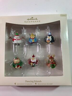 2007 HALLMARK Keepsake Miniature DANCING FRIENDS Set of 6 Christmas Ornaments