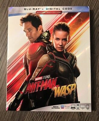 Marvel Ant-Man And The Wasp Blu Ray + Slipcover