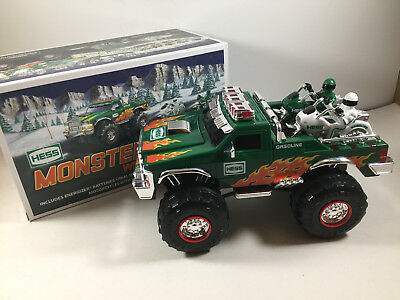 Hess 2007 Toy Monster Truck With Motorcycles New in Box