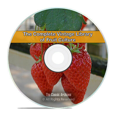 Library of Fruit Culture, 157 Books, Grow, How to, Recipes Garden PDF DVD H93