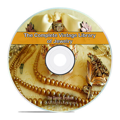 Library of Jewelry, 75 Books, Catalogs, How to Make Gold Silver Stones DVD H99