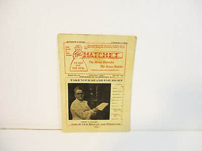 The Hatchet January 1908 Cut Out Evil Prohibition News Carry Nation