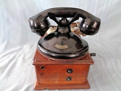 Antique Stromberg Carlson No Dial Telephone Model R1202 with 3 Magneto Bell Box