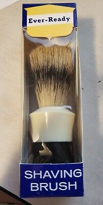 VINTAGE EVER-READY SHAVING BRUSH 100 I New In Box LATHER SHAVE