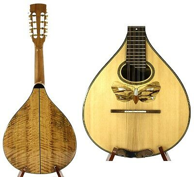 Small Arch Back Mandolin Solid Spruce Curly Maple free Hard Case NAMI85