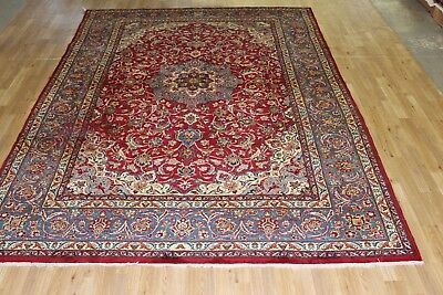 Vintage 8x11 najashabad  semi antique wool hand knotted Persian Oriental Rug