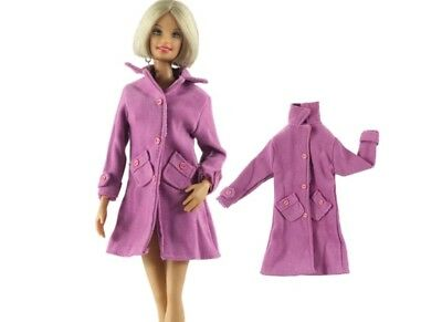 New Barbie clothes outfit jacket trench coat sweater jumper pink
